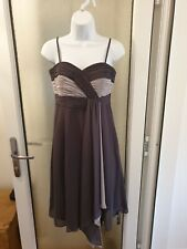 Debut Debenhams Grey Fitted Occasion Dress Size 8 removable straps Wedding prom