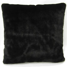 Fm847a Black Plain Soft Faux Fur Cushion Cover/Pillow Case*Custom Size*