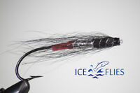 ICE FLIES. Tube fly. Kolskeggur Round hackle. Pick a size. (3-pack)