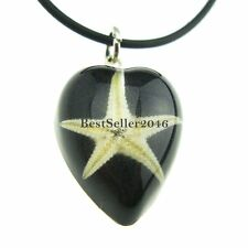 Real Sea Star Starfish Amber Lucite Insect Necklace Pendant Necklace Fashion