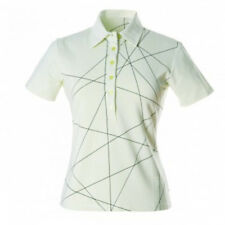 Nivo ladies Pique  Print Polo - Sharp Green