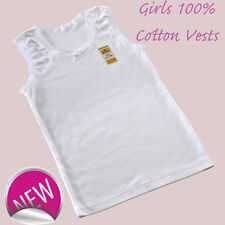 3 Packs Girls  100% SOFT COTTON VESTS 2 3 4 5 6 7 8 9 10 11 12 13 YRS