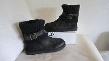 UGG Australia CAMBRIDGE Boots SN 1006738 Ladies 8  Metallic Black Leather