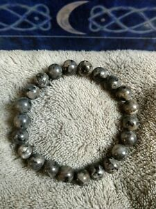 Black moonstone Larvikite Bracelet Crystal Healing 8mm beads