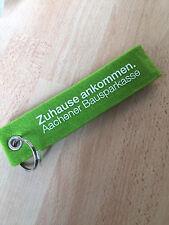 Schlüsselband - Keyholder - Aachener Bausparkasse in grün (ca. 16 x 3,5 cm)