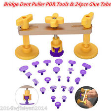 Autos Paintless Dent Repair Hail Removal Bridge Dent Puller &Glue Tabs PDR Tools