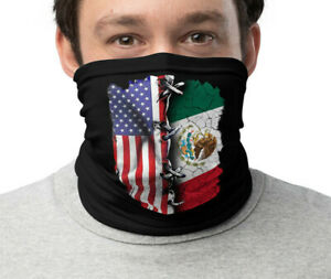 USA MEXICO FLAG Unisex Neck Gaiter Face Mask Washable Breathable Cycling New