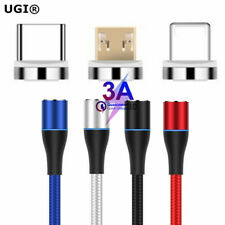 3A Fast Magnetic Adapter Charger For iPhone IOS Android Type C Micro USB Cable