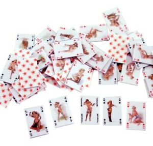 Miniature Dolls House Accessories Glamour Girls Playing Cards 1:12th scale size