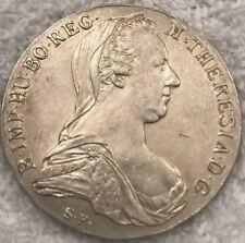 1708 SF Maria Theresa Thaler Austria, Silver Coin. ARCHID AVST DUX.Old Re-Strike