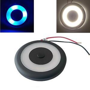 LED Spot Light 12V 24V Touch Switch Dimmer 70mm Black Downlight Caravan Boat
