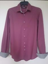 Shirt,Sleeve Long,DKNY,Colour Burgundy with Grey,Size S,Men's