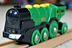BRIO 33593 Big Green Action Locomotive Lights Sounds Motorised Battery Operated