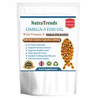 Fish Oil Omega 3 With Vitamin E Gelatin Free 1200 mg Softgels source of EPA,DHA