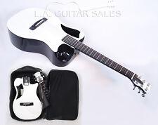 New Journey OF660 Gloss White Carbon Fiber Travel Guitar @ LA Guitar Sales