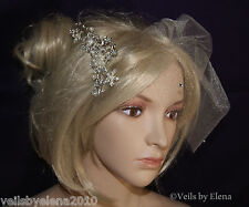 Birdcage Bridal Wedding Veil Veil Blusher Veil Crystals Comb Included USA Made