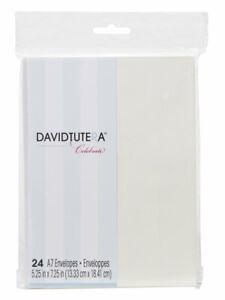 Darice DT-GX-7500-18 24-Pack David Tutera Celebrate Step 1 Envelope, A7, Ivory