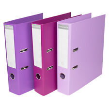 3 x Purple Shades A4 Lever Arch Files Storage File Office Paper Archive Folders