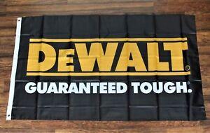 DeWalt Tools Banner Flag Guaranteed Tough Logo Hardware Store Advertising 3x5