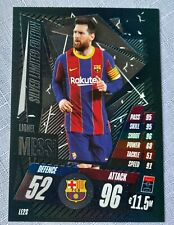 Match Attax 2020/21 Lionel Messi Silver Limited Edition card