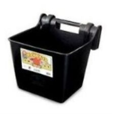 Fortiflex Hook Over Fence Feeder for Dogs/Cats and Horses, 16-Quart, Black