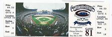 1993 Cleveland Indians Final Last Game at Cleveland Stadium Full Unused Ticket