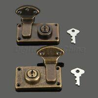 7 Hole Antique Style Iron Wooden Box Luggage Case Buckle Latch Hasp Lock Vintage