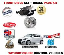 PARA SUZUKI SWIFT 1.6 SPORT 11-> DISCOS FRENO DELANTERO SET+PASTILLAS DE FRENO