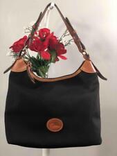 """DOONEY & BOURKE Black Nylon """"Erica"""" Medium Hobo Shoulder Bag"""