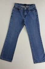 Sz 5 TOMMY HILFIGER Women's VINTAGE Flag Logo straight leg Jeans Pants 26x29(4b)