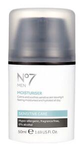 *Boots No. 7* Men's moisturizer - Calms Soothes Sensitive Care Skin 50ml 1.69 oz