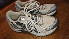 asics trainers running size 37 UK 4 PATRIOT WHT/SIL/WHT in very good condition