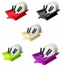 High Quality Kitchen Coloure Plastic Dish Drainer Plate and Cutlery Rack Holder