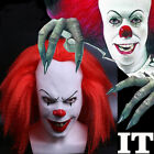 Red Stephen King's It Mask Cosplay Pennywise Clown Mask Scary Halloween Mask New