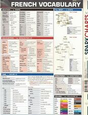 French Vocabulary by SparkNotes 2002, Paperback SparkCharts Study Guide