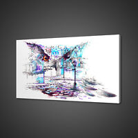 ABSTRACT OWL CANVAS PICTURE PRINT WALL ART HOME DECOR FREE FAST DELIVERY