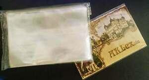 Ansichtskartenhüllen, cases, 100 Stück für alte kleine Postkarten 100x150x0,04mm