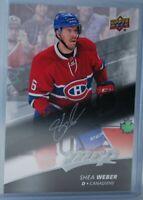 2017-18 Upper Deck MVP Silver Script #65 Shea Weber Montreal Canadiens