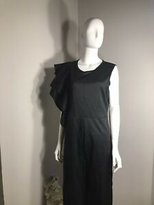 Unbranded Womens Size China 2XL/US 12 Black One Shoulder Sleeveless Jumpsuit New