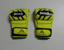 Brace Master MMA Gloves UFC Gloves  (Large), Yellow- Brand New Free Shipping