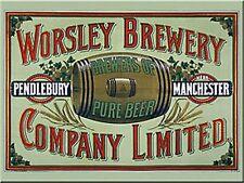 Worsley Brewery Manchester steel fridge magnet    (na)