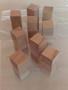 Pack of 27 19mm Wooden cubes for making Soma Cube type puzzles