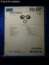 Sony Service Manual NW E8P Network Walkman (#6026)