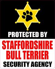 Protected By Staffordshire Bull Terrier Agengy Sticker