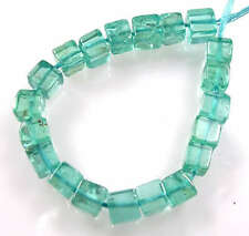 20 GENUINE GEMSTONE AQUA BLUE APATITE SMALL CUBE BEADS 3.5-4 mm A32