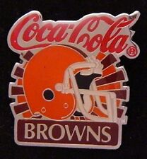 Cleveland Browns Pin Badge ~ NFL ~ 80's Vintage ~ Coca Cola ~ Coke