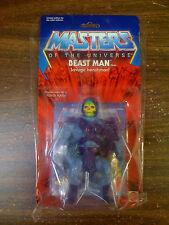 MOTU VINTAGE Commemorative Edition Skeletor Figure ERROR Beast Man Card NEW RARE
