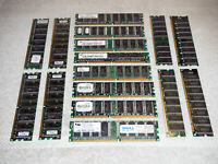 LOT of 16 COMPUTER DESKTOP PC MEMORY RAM MODULES ~ VARIOUS MEMORY SIZES