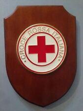 Crest in legno CROCE ROSSA ITALIANA crest of wood