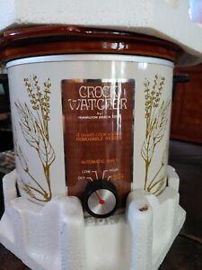 Vintage Crock Watcher By Hamilton Beach 6 Quart Cook And Serve Herbs Crockpot